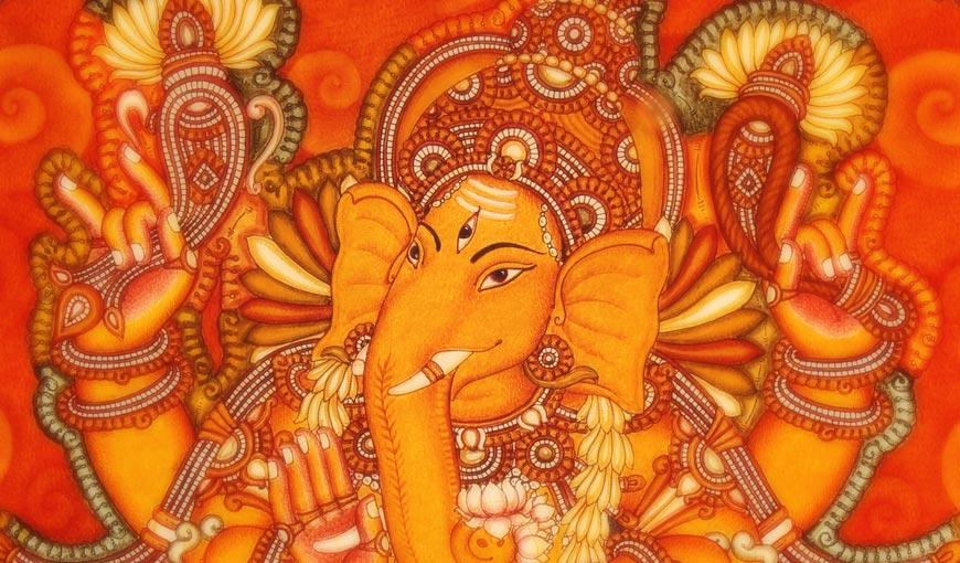 Home kerala mural painting for Mural ganapathi