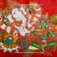 GANAPATHI-KERALA-MURAL-PAINTING