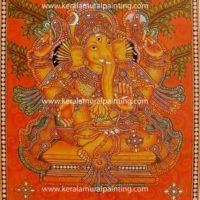 GANAPATHI-KERALA-MURAL-PAINTINGS