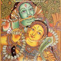 KRISHNA-RADHA-KERALA-MURAL-PAINTING
