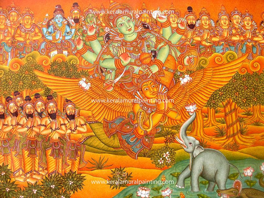 Kerala mural paintings kerala mural painting for Buy kerala mural paintings online