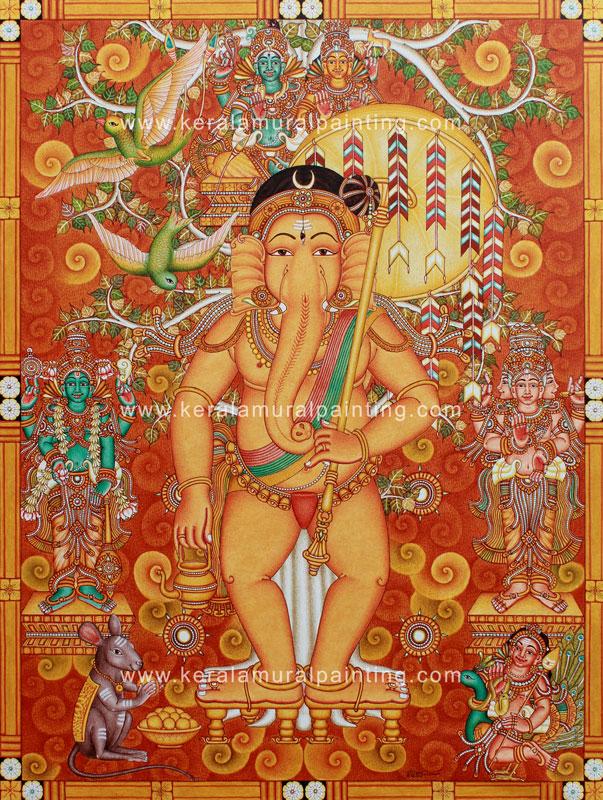 mural ganapathi painting