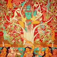 krisha leela mural painting